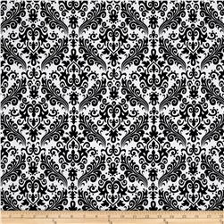 Riley Blake Medium Damask White/Black