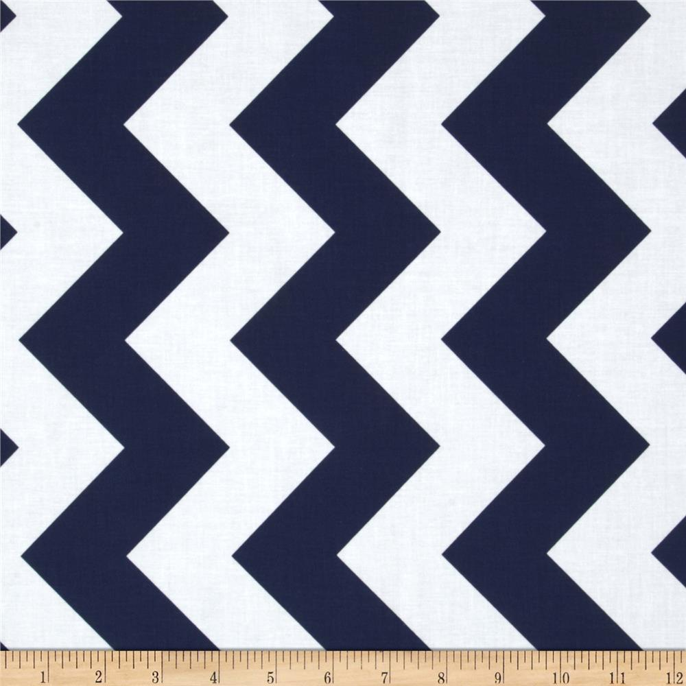 Riley Blake Chevron Large Navy