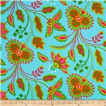 231259 Garden Party Garden Floral Aqua