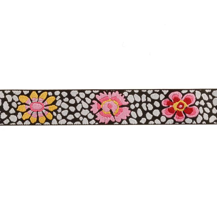 Kaffe Fassett 7/8&#39;&#39; Ribbon Guinea Flower Black/White