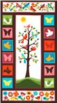 EM-120 Tree Of Life Flannel Panel Vintage