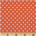 Michael Miller Children At Play Flannel Dot To Dot Coral