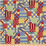 Noah's Ark Nursery Patchwork Red