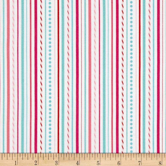 Riley Blake Sweetcakes Stripes White