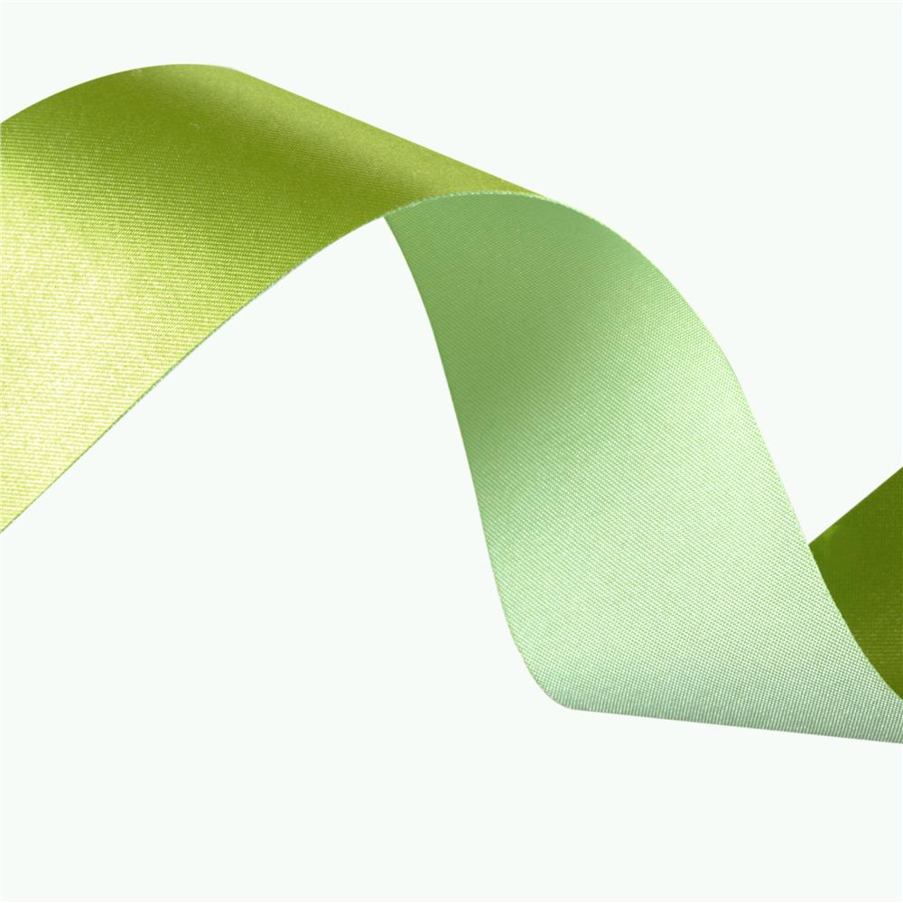 1 1/2&#39;&#39; Iridescent Satin Ribbon Celery/Light Green