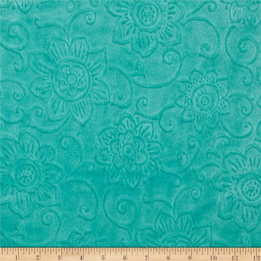 Minky Cuddle Spice Market Embossed Flower Malibu