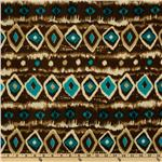 Viva Hatchi Sweater Knit Ikat Stripe Turquoise
