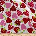 Robert Kaufman Silky Satin Merry Berry White/Red