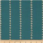 Embossed Metallic Jersey Knit Bubbles Teal
