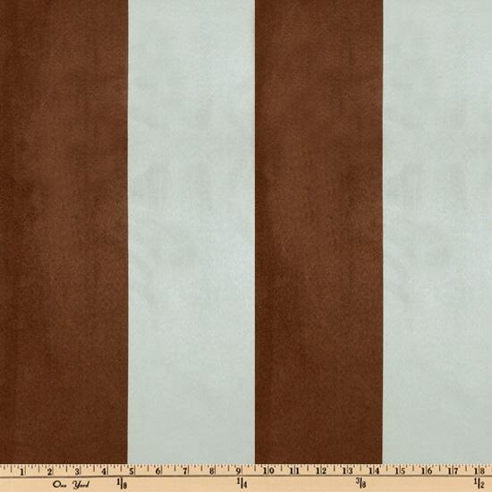 Vintage Suede Stripe Chocolate/Sky