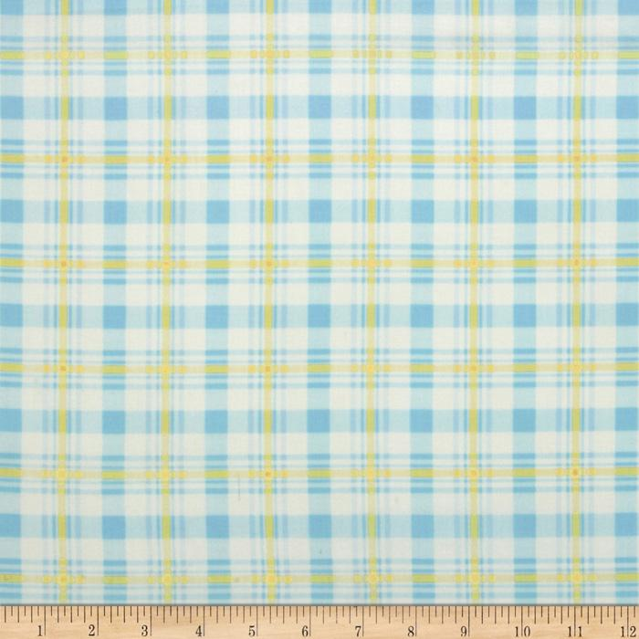 Baby Business Argyle Plaid Blue/Yellow