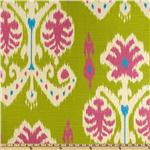 0264430 Home Accents Caftan Ikat Kiwi Green