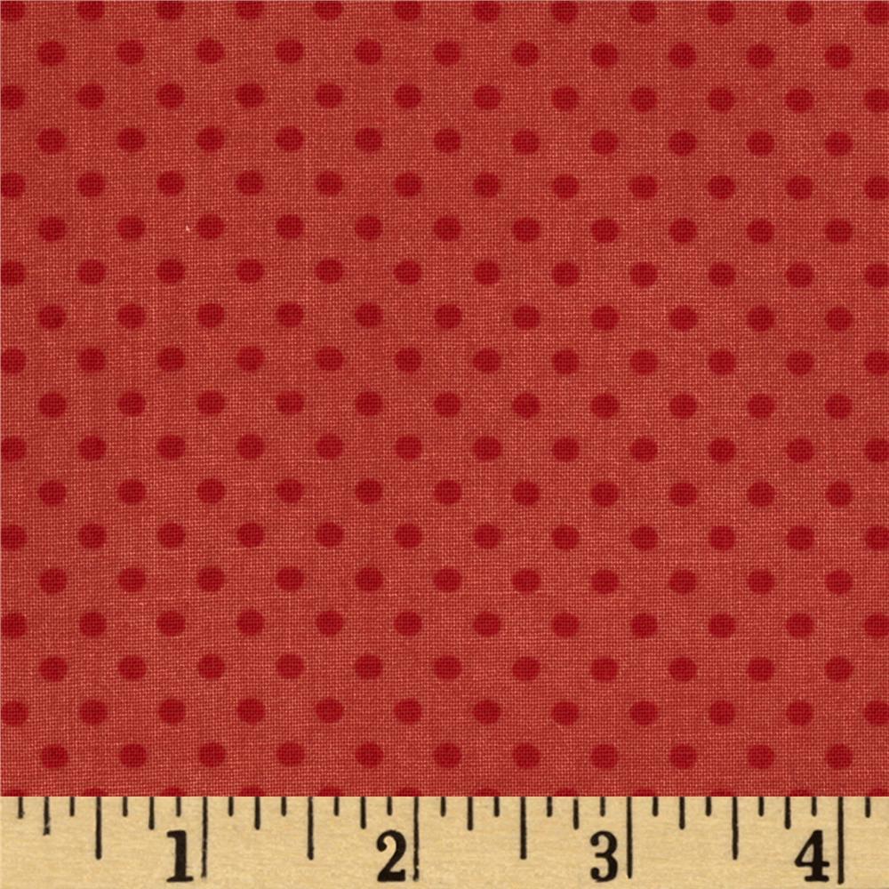 Moda Odds & Ends Hankie Dots Rosebud Red