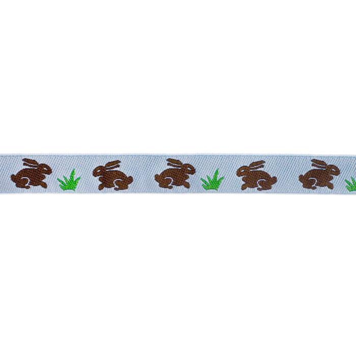 5/8'' Ribbon Bunnies Brown/Blue