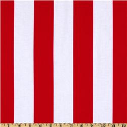 Michael Miller Stripes Two by Two Stripe Clementine Red
