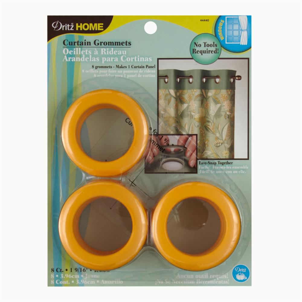 "Curtain Grommets 1 9/16"" Yellow"