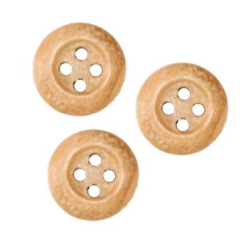 Genuine Wood Button 1/2&#39;&#39; Oakwood Natural