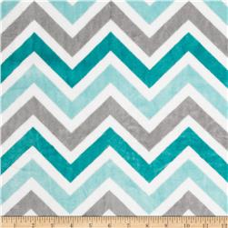 Minky Cuddle Zig Zag Topaz/Charcoal/Snow