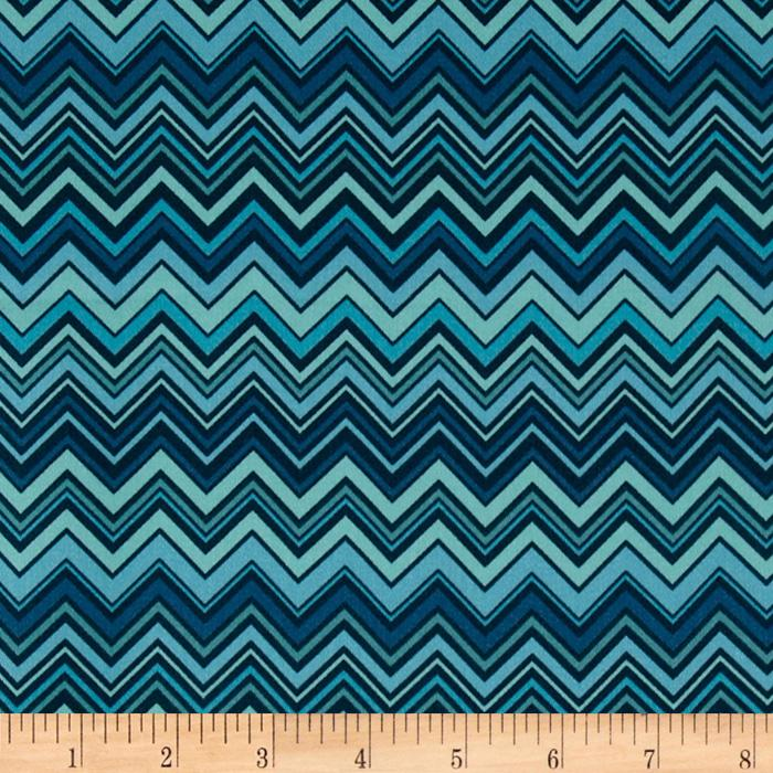 Valori Wells Novella Cotton Sateen ZigZag Blue