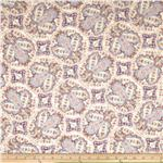 0281222 &#39;Stretch Cotton Poplin Paisley Lavender/Mauve