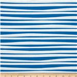 229974 Monkey&#39;s Bizness Stockade Stripe Blue/White