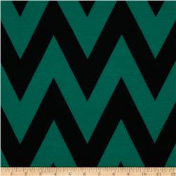 Fashionista Jersey Knit Medium Chevron Teal/Black