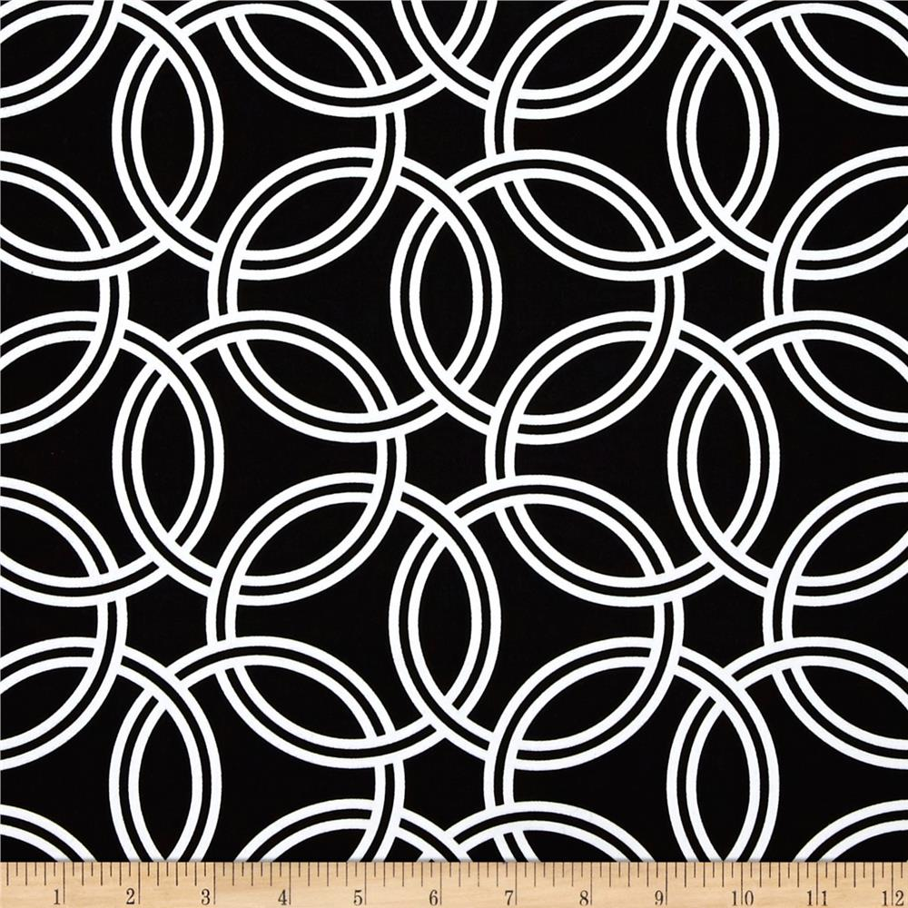 Michael Miller Bekko Home Decor Swirl Black