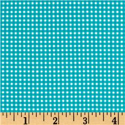 Michael Miller Mini Mikes Tiny Gingham Teal