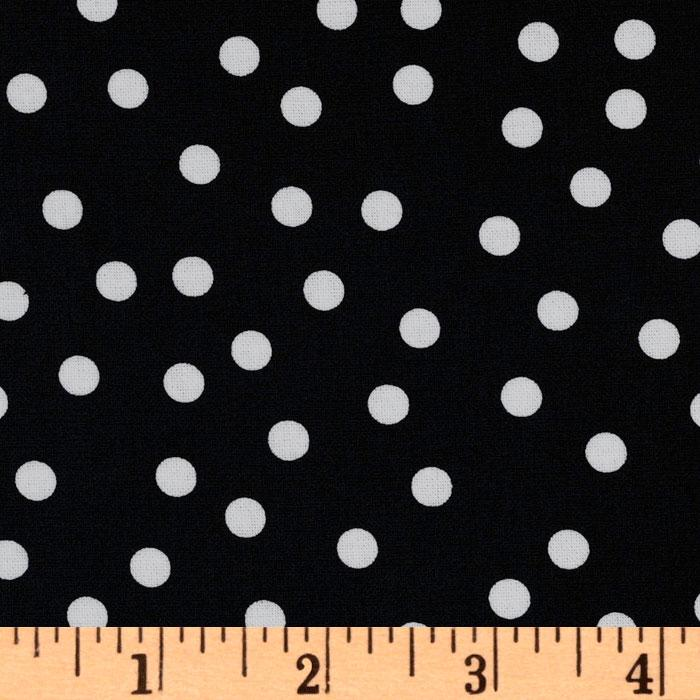 Remix Slicker Laminated Cotton Polka Dots Jet