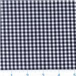 Woven &#39;1/8&#39;&#39; Cotton Gingham Black