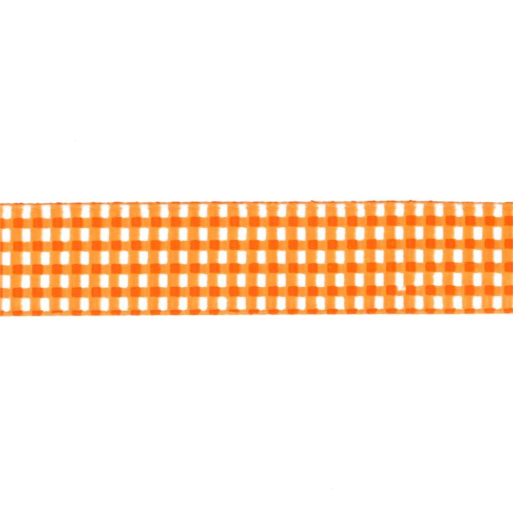 Riley Blake 5/8&quot; Grosgrain Ribbon Gingham Orange