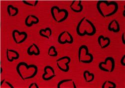 "Fanci Felt 9 x 12"" Craft Cut Princess Heart Red"