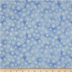 Holiday Accents Classics 2013 Metallic Small Snowflake Light Blue