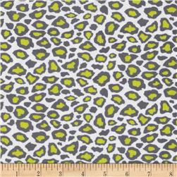 Metro Living Leopard Grey/Lime