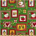 Country Christmas Collage Green