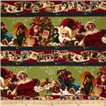 Christmas Past Vintage Santa Red