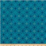 0279860 Tree of Life Metallic Eden Floral Circles Teal