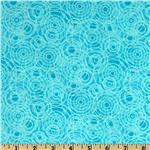 Flannel Spirograph Turquoise