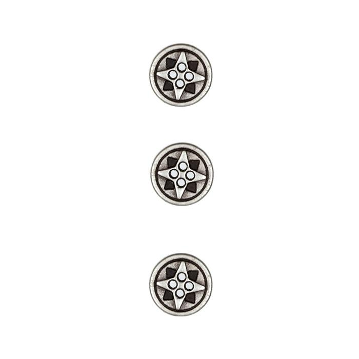 Metal Button 1/2'' Cosmic Antique Silver