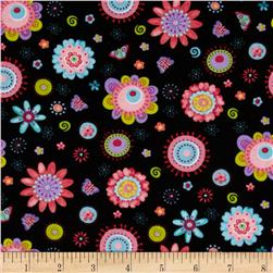 Cool Cats Large Daisy Black
