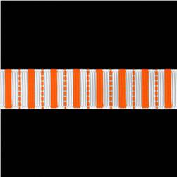 Riley Blake 5/8'' Grosgrain Stripes Ribbon Orange