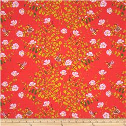 Heather Ross Briar Rose Nanny Bee Lilac/Coral