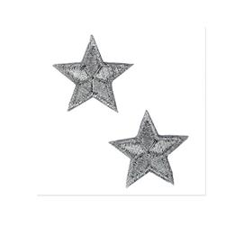 Boutique Applique Stars Silver