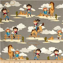 Riley Blake Sasparilla Little Cowboys Grey