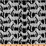 Timeless Treasures African Safari Zebra Toss White/Black