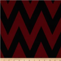 Fashionista Jersey Knit Medium Chevron Black/Burgundy