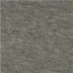 Stretch Cotton Blend Hatchi Knit Grey