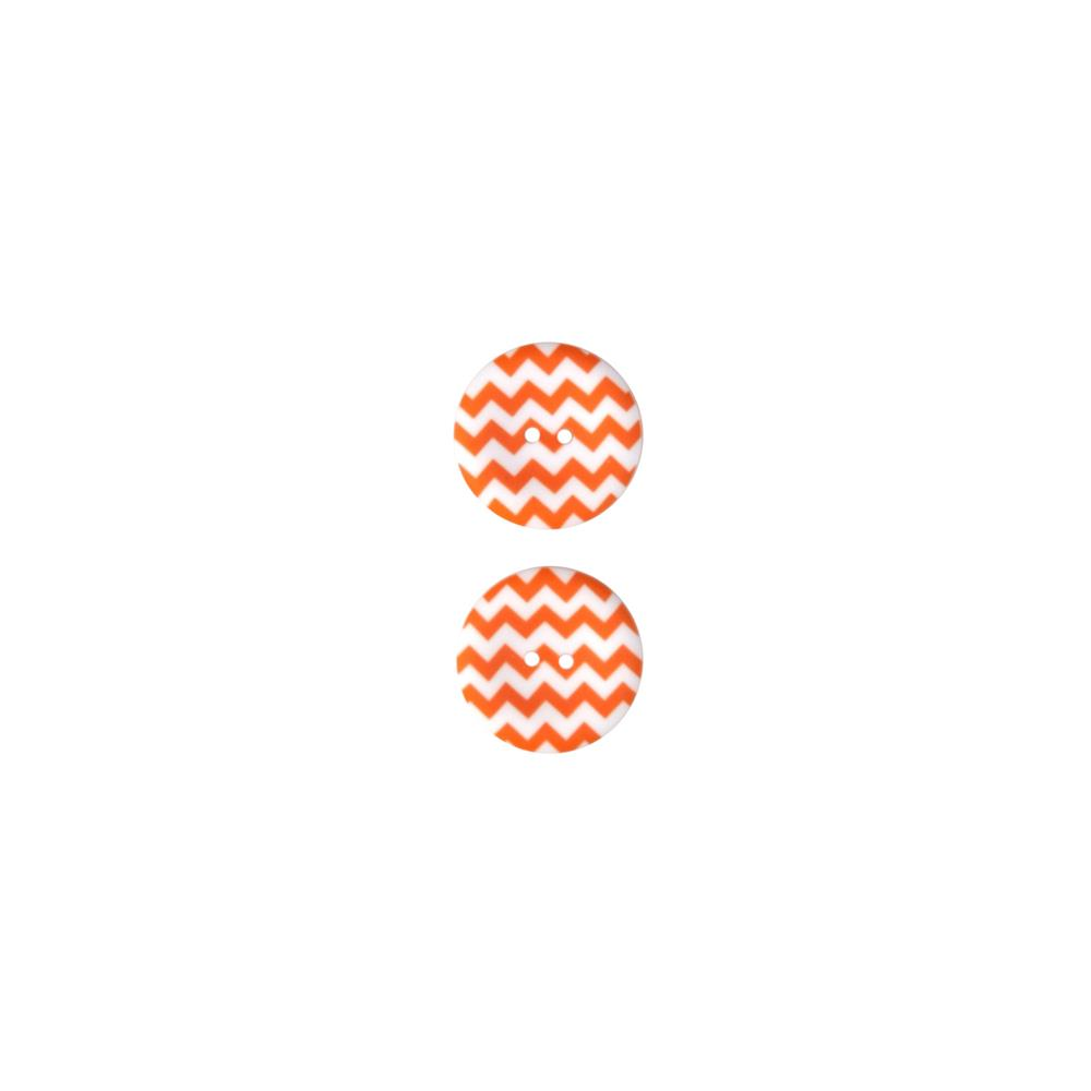 Riley Blake Sew Together 1 1/2 Matte Button Chevron Orange