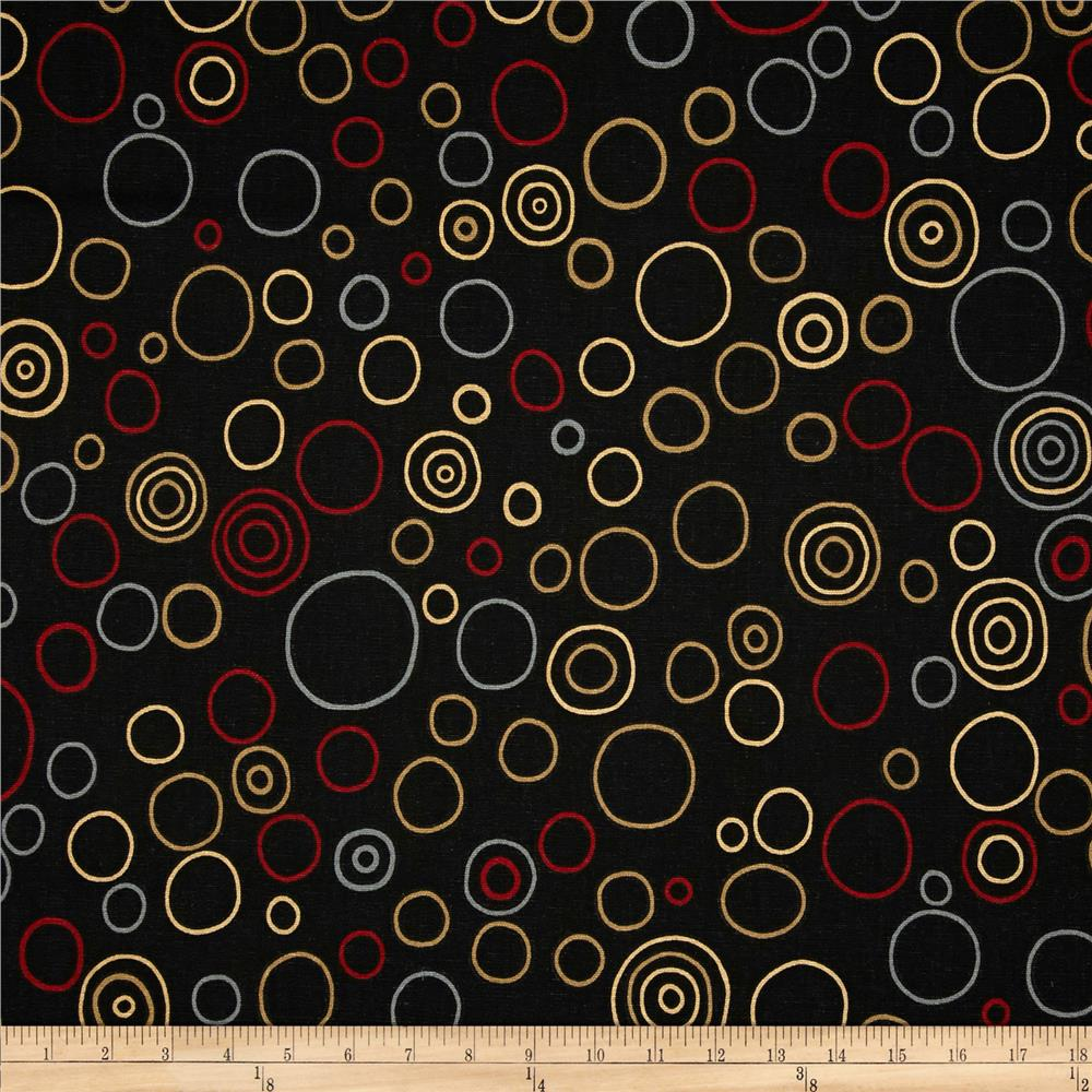 Premier Prints Bubbles Black/Red
