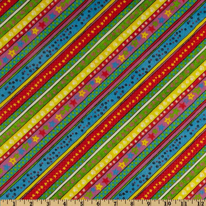 Playful Pets Flannel Stripe Multi